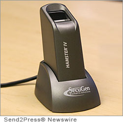 SANTA CLARA, Calif., May 1, 2012 (SEND2PRESS NEWSWIRE) -- SecuGen, the world's leading optical fingerprint device vendor, is pleased to announce the availability of biometric identity management and fraud prevention for SAP(R) system users with the combination of SecuGen(R) Hamster(TM) Plus and Hamster(TM) IV fingerprint readers and bioLock(TM) software from realtime North America Inc.