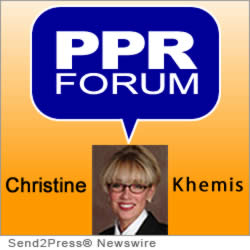 PPR Forum logo & Christine Khemis