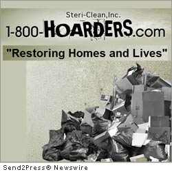 LOS ANGELES, Calif., Oct. 18, 2011 (SEND2PRESS NEWSWIRE) -- 'A new annual tradition for hoarding families has begun at 1800HOARDERS.COM,' stated Cory Chalmers the company's President and Featured Expert on A&E's smash hit 'Hoarders.' Steri-Clean Inc. - the parent company of 1800HOARDERS - is looking for two needy families that would otherwise not be able to afford a clean-up and would like a team of volunteers to clean out and de-clutter their homes, just in time for the holidays.