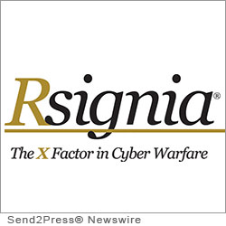COLUMBIA, Md. (SEND2PRESS NEWSWIRE) -- Rsignia, Inc. today announced the launch of a new Cyber Command and Control Simulation Center at its headquarters and their new alliance with RGB Spectrum in support of the new Center. The Companies together have established a unique media immersive environment specific to cyber command and control.