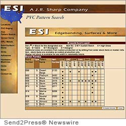 SAN DIMAS, Calif. (SEND2PRESS NEWSWIRE) -- ESI Edgebanding Services Inc. has announced the full update of their PVC edgebanding to matching high pressure laminate patterns database. The ESI PVC pattern database is fully searchable by laminate brand, laminate pattern number or laminate pattern name.