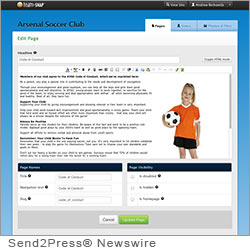 BOULDER, Colo. (SEND2PRESS NEWSWIRE) -- TeamSnap today introduced Public Websites, a new web service that allows any league, club or sports organization to present a professional image while providing comprehensive information to players, coaches and parents. Until now, few sports organizations have had the money or resources to develop and manage a professional-quality website.