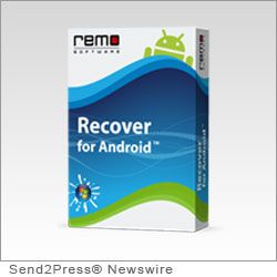 MOUNTAIN VIEW, Calif. (SEND2PRESS NEWSWIRE) -- Remo Software has announced the launch of Remo Recover for Android, a new application built to recover deleted files for smart phones running on Android. With this launch, the company has achieved another milestone, in its long and distinguished career as a utility management developer.