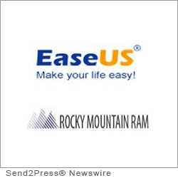 NEW YORK CITY, N.Y. (SEND2PRESS NEWSWIRE) -- Disaster recovery and data protection software developer EaseUS Software Group, is very pleased to be chosen by Rocky Mountain RAM to offer their customers a reliable home backup solution. As a distributor of computer memory, USB flash drives, hard drives and hardware upgrades for all major brands of computers, workstations, printers and routers, Rocky Mountain RAM serves federal and state government, educational institutions and private sector industries.