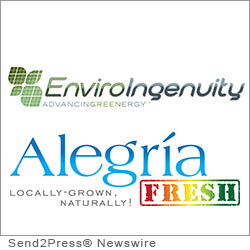 LAGUNA BEACH, Calif. (SEND2PRESS NEWSWIRE) -- Local entrepreneur Erik Cutter has bought the farm - literally. EnviroIngenuity today announced the phase one completion of Alegria Farm, Orange County's first hydroponic vertical farm. Engaged in the promotion of sustainable technologies, EnviroIngenuity has brought a new farming system to the west coast.