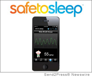 DETROIT, Mich. (SEND2PRESS NEWSWIRE) -- SafeToSleep(TM) (SafeToSleep.com) announced the launch of its innovative new baby product, the Sleep and Breathing Monitor, a breakthrough in infant sleep safety that monitors each breath of a sleeping baby with hospital accuracy and streams the breath wave to a smartphone as it occurs. The Sleep and Breathing Monitor will alarm upon detection of slow, fast, and no breath events.