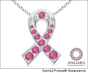 LOS ANGELES, Calif. (SEND2PRESS NEWSWIRE) -- This October Angara presents the 'Pink Collection' in support of Breast Cancer Awareness Month. Every time you purchase jewelry from this collection, Angara will make a donation to the National Breast Cancer Foundation, Inc (NBCF). The 'Pink Collection' includes pendants, earrings and rings in pink sapphires and gemstones.
