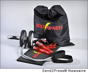 PHILADEPLPHIA, Pa. (SEND2PRESS NEWSWIRE) -- Bolt Fitness announced this week that it was granted a patent (U.S. Patent D666,255) for a new, innovative fitness product - the Bolt Wheel - which brings the gym to the home.