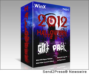 NEW YORK CITY, N.Y. (SEND2PRESS NEWSWIRE) -- With the Halloweenish atmosphere making an inroad into the end of October, Digiarty Software (www.winxdvd.com) recruits participants to get valuable freebies for this annual holiday. Two free Halloween gifts, the New iPad Ripper and WinX HD Video Converter Halloween edition, are the assistants to play DVD and HD videos on the new iPad 4/3, iPad Mini, iPhone 5, Surface Tab, Galaxy S III and any other new Apple or Android gadgets.