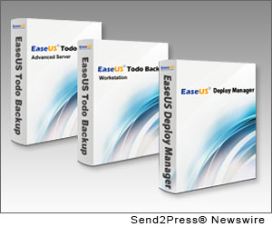 NEW YORK CITY, N.Y. (SEND2PRESS NEWSWIRE) -- EaseUS Software, as an innovative software developer for providing cost effective solutions for storage management and data protection, today released version 5.3 of its family of EaseUS Todo Backup products and the new release of EaseUS Deploy Manager. The latest version and new product has been enhanced a lot to meet the growing needs of PCs, workstations and servers users.