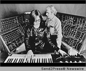 Roger Powell and Bob Moog 1974