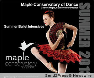 Summer 2013 Senior and Junior Ballet Intensives Program, Maple Conservatory of Dance, Charles Maple and Kathy Crade, ballet study, training and performance opportunities to bridge the gap between students and professional dancers