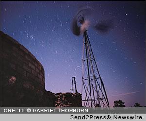 Windmill Night by Gabriel Thorburn, poet Russel Thorburn, Mojave National Preserve, Bob Killen Fine Art, Many Names Have Never Been Spoken Here, Mojave National Preserve Artist in Residence program